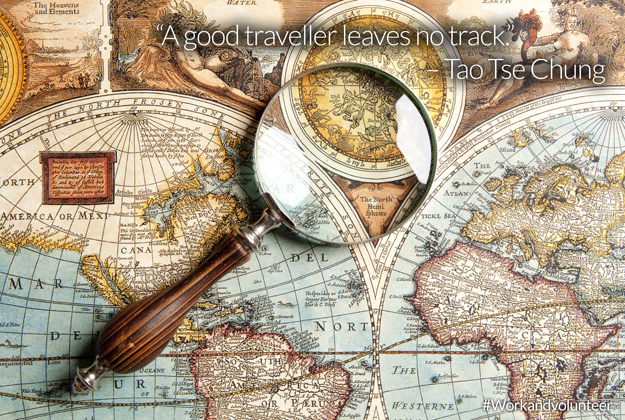 A good traveller leaves no track